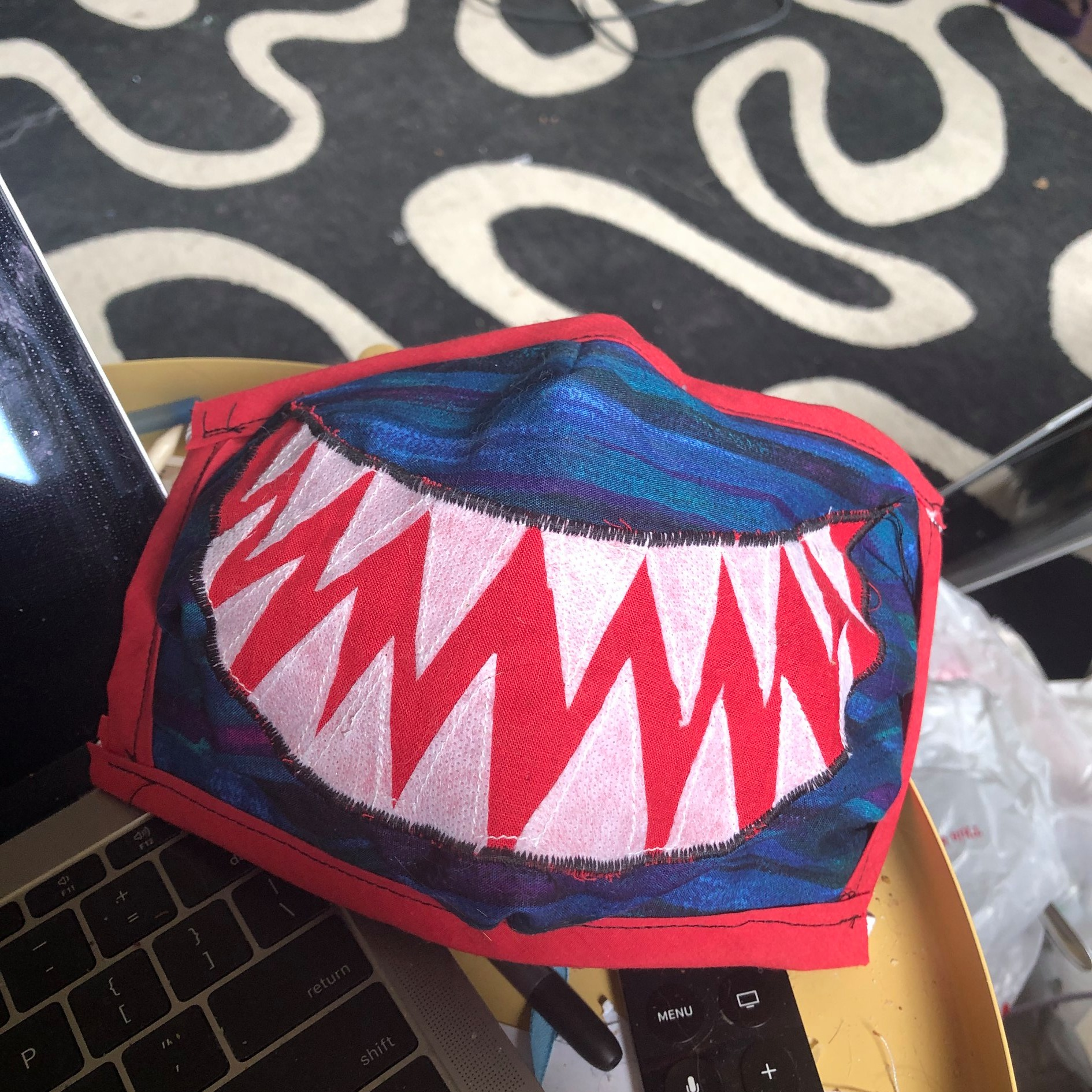 Mask of the Day: Shark mouth
