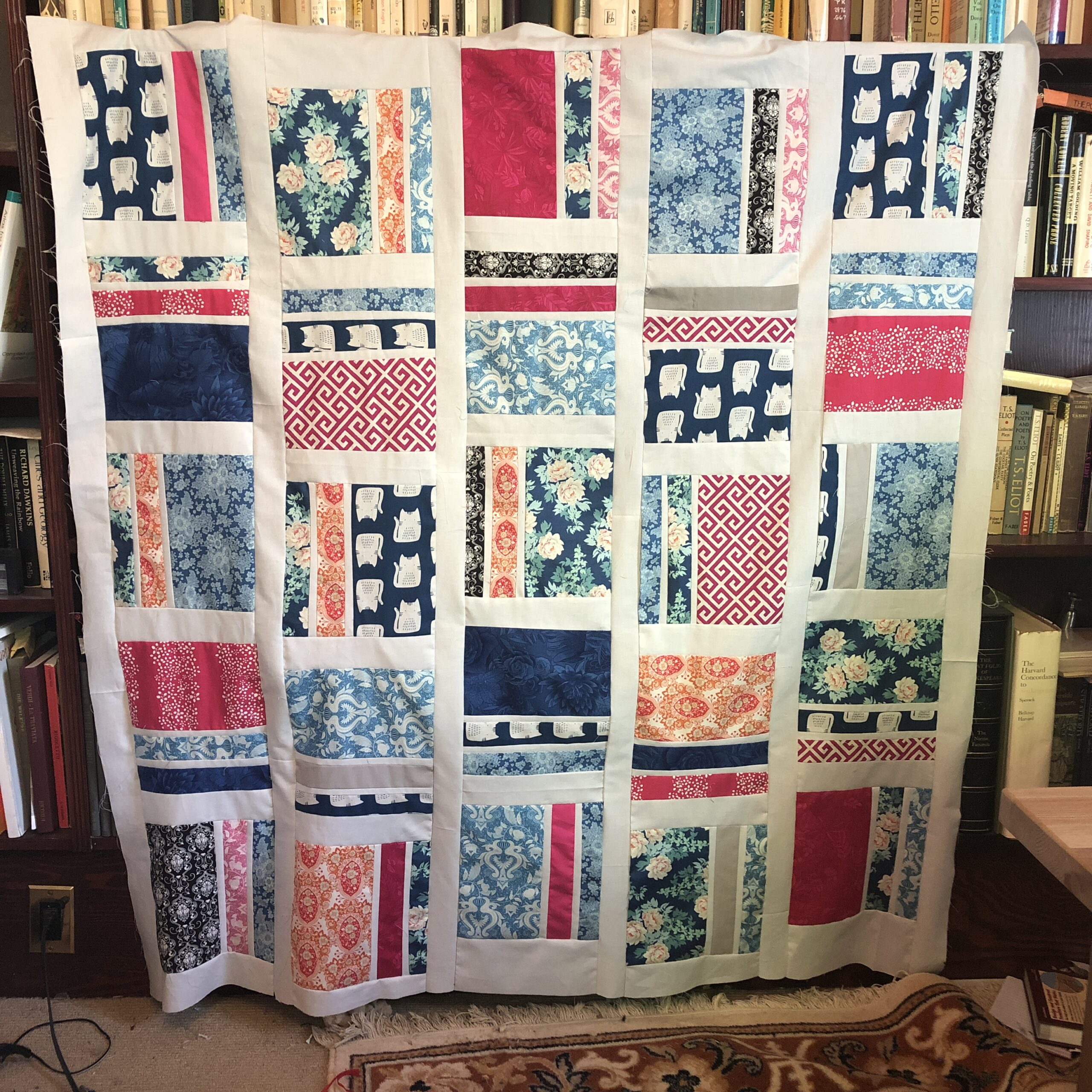 My first quilt – Peaches and Cream