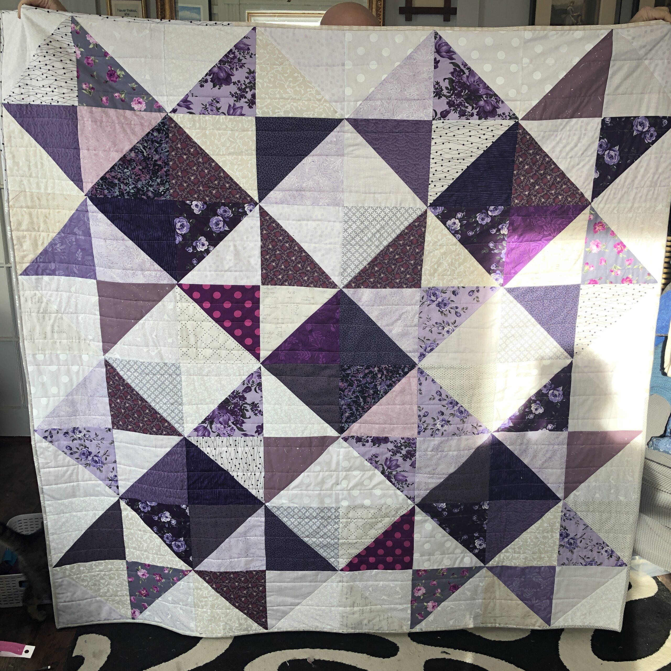 Purple Stargazer quilt