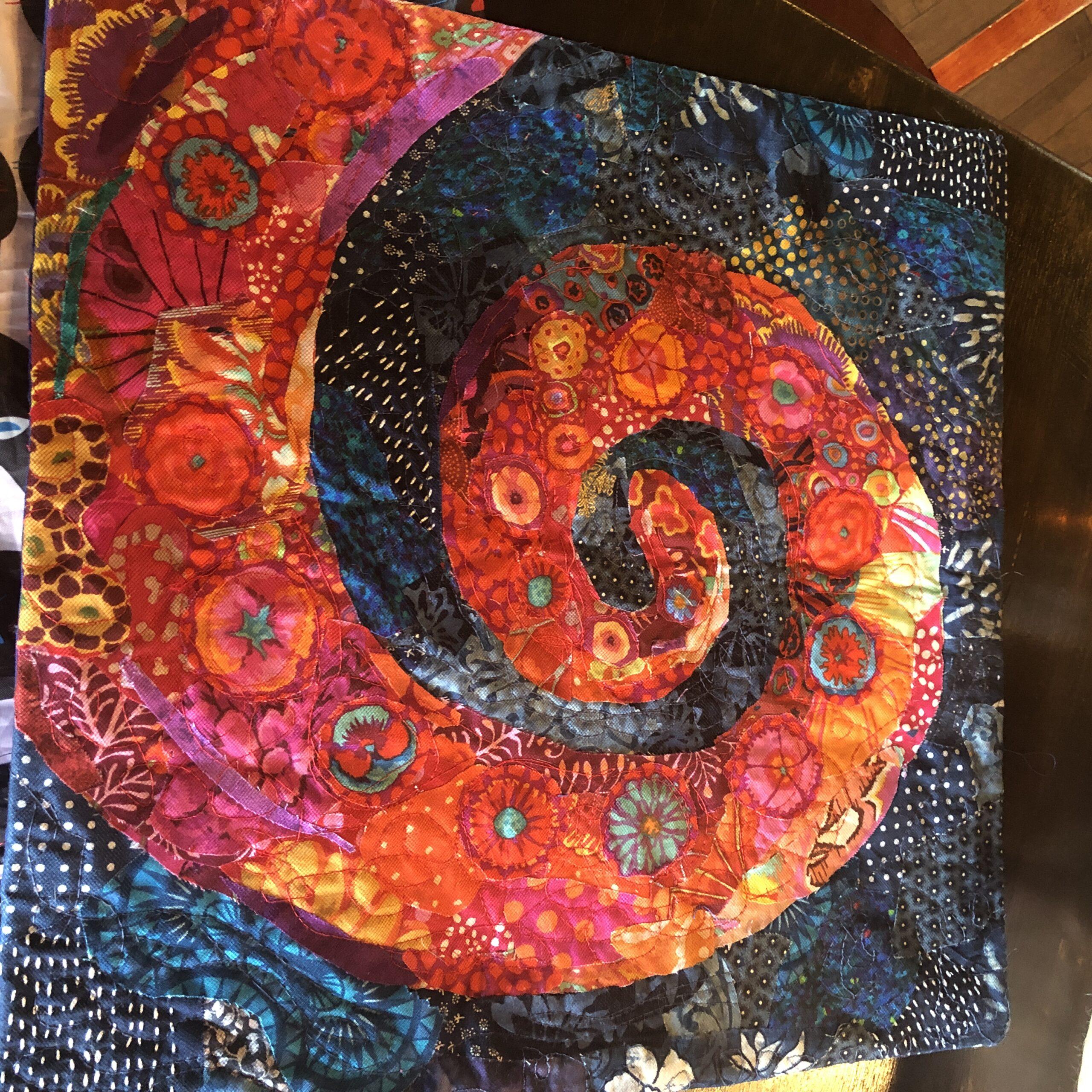 Spiral Art Quilt collage