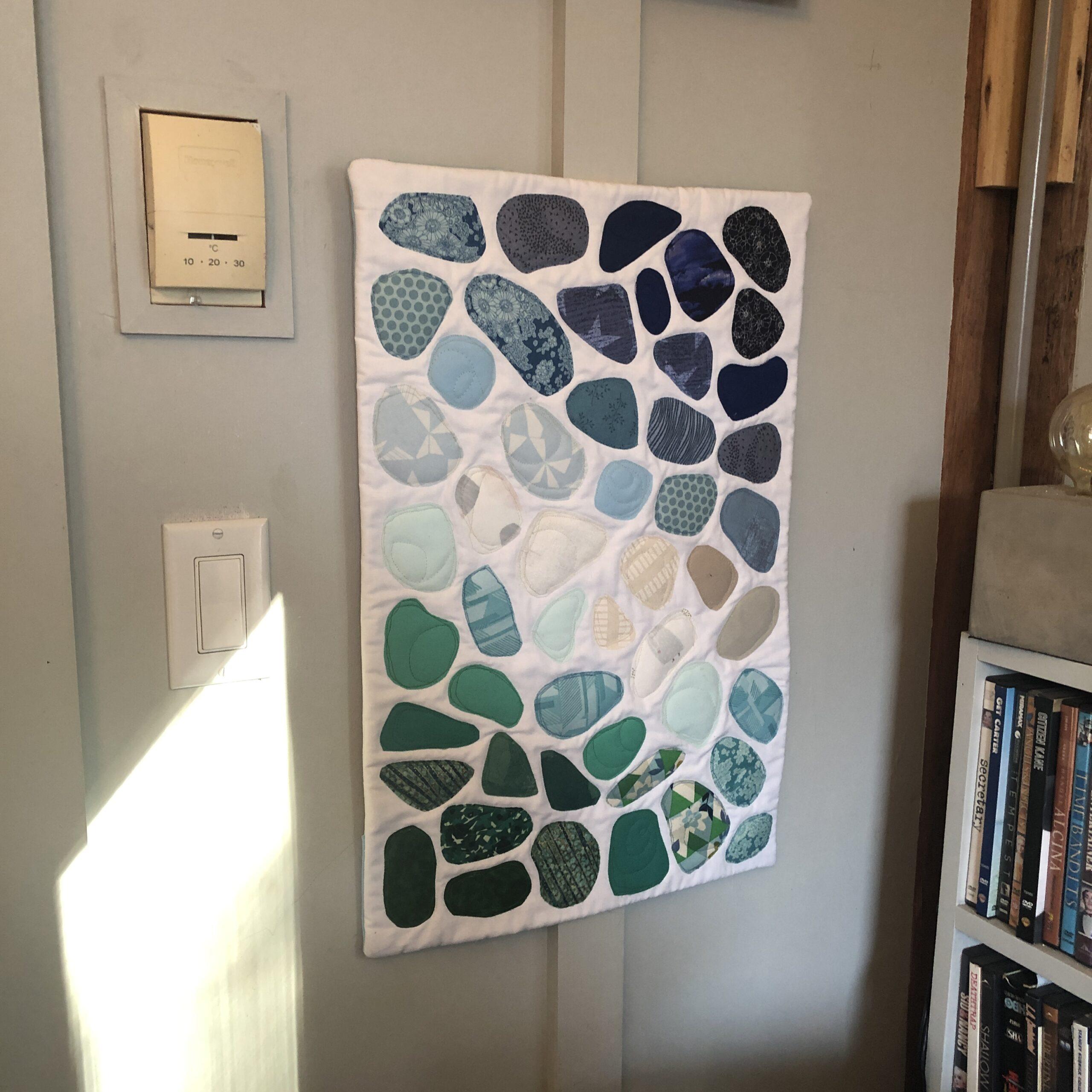 Seaglass Art Quilt
