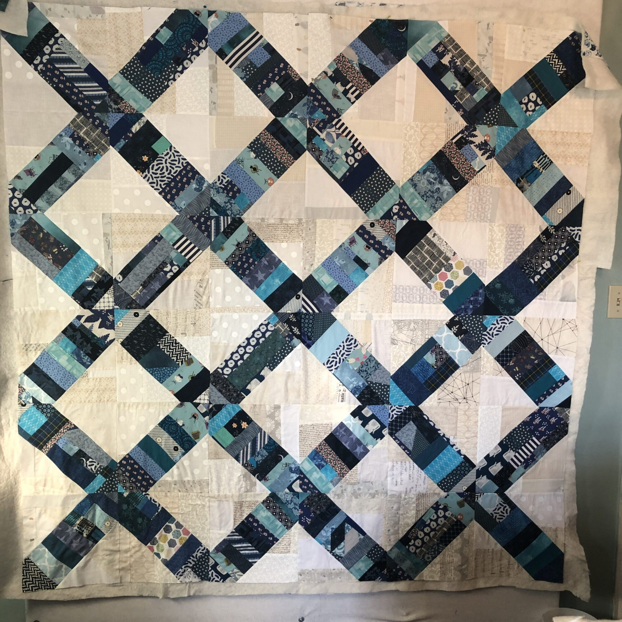 January Project Quilt – basting