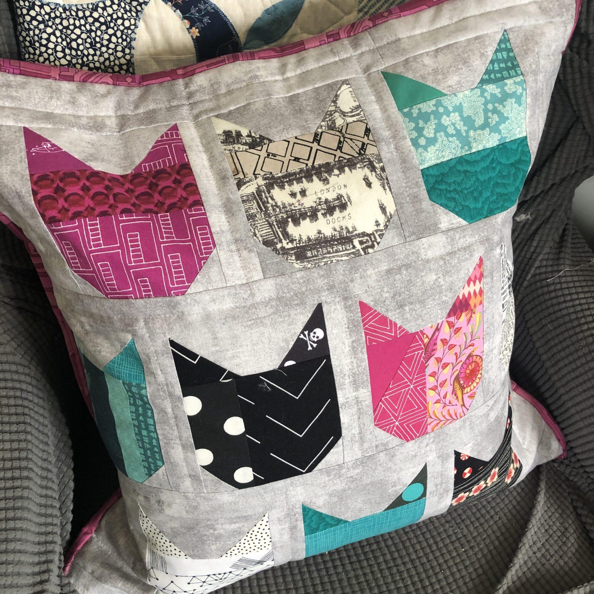 Cat Block Pillow